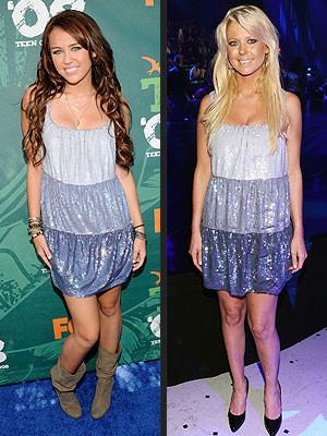 Vestido de Moschino: ¿Miley Cyrus o Tara Reid?