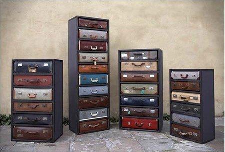 James Plumb: viejas maletas convertidas en cajoneras