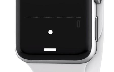 Esta versión de Pong hace que el juego parezca originalmente pensado para el Apple Watch