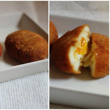 Jugosos huevos fritos a la villaroy, receta para un aperitivo sorprendente