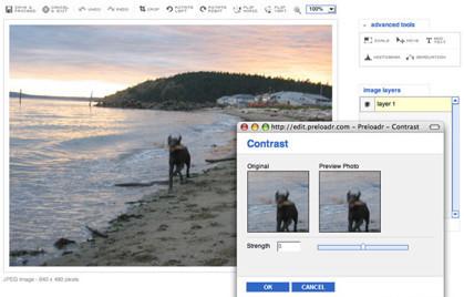 Varios servicios web para retocar imágenes