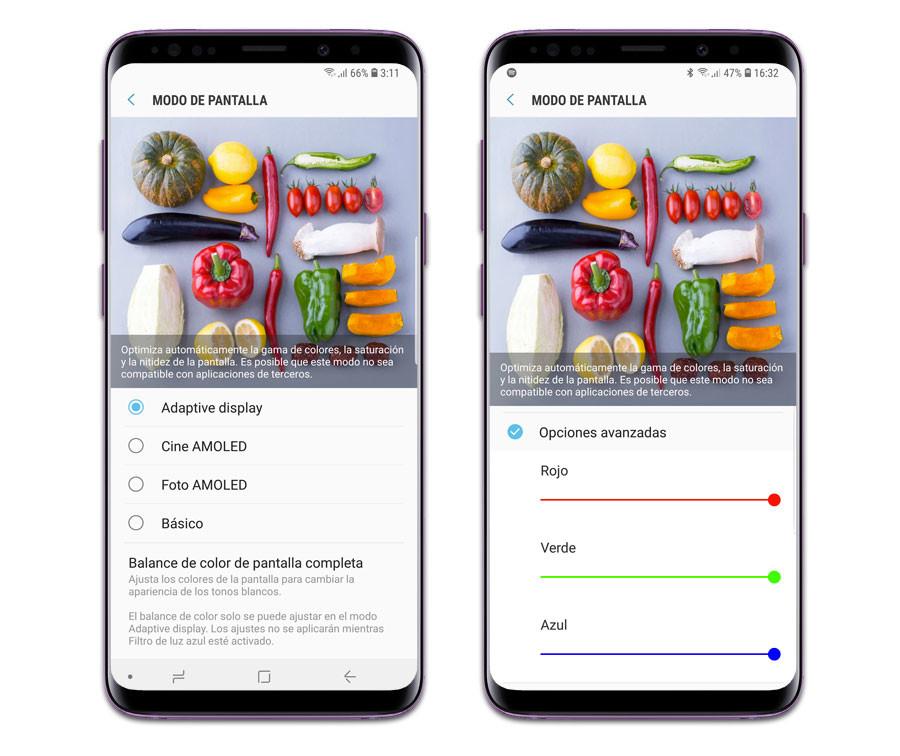 Samsung Galaxy™ S9+: ajustes de pantalla