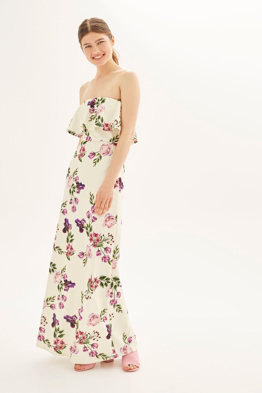 Vestido bandeau floral