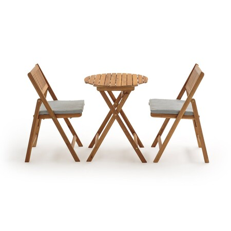 Conjunto de mesa y sillas para terrazas pequeñas