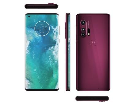 Motorola Edge Plus Render Oficial Evleaks Rojo Borgona