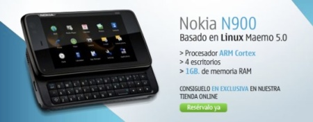 Reserva tu Nokia N900 desde ya mismo
