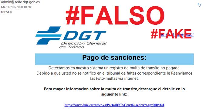 La DGT muestra de un plumazo cuatro ejemplos de multas falsas con las que te pueden intentar timar