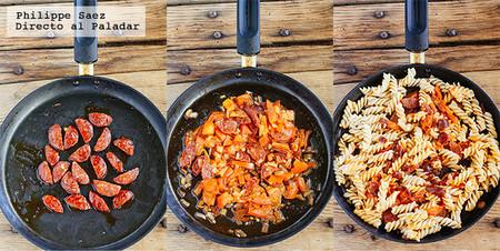 Pasta Chorizo Chipotle Receta