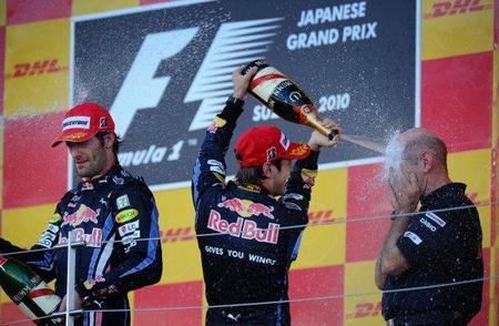 Doblete de Red Bull en el Gran Premio de Japón. Fernando Alonso, tercero