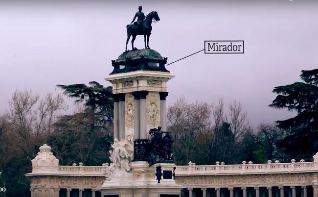 Mirador Monumento Alfonso XII El Retiro