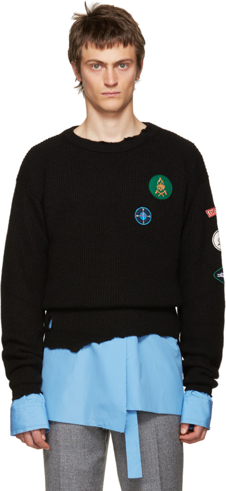 La tendencia destroyed muta al estilo Ivy League con la colección fall de Raf Simons