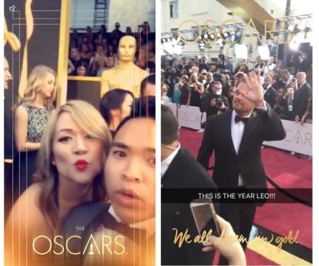 Los Oscars en Snapchat