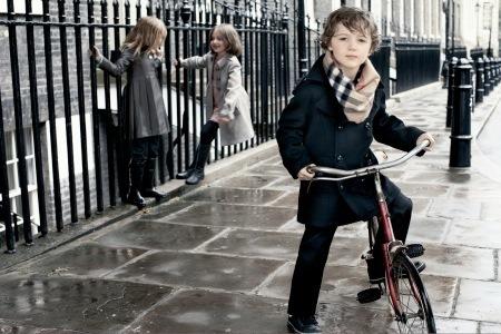 Niños de Burberry para el otoño invierno 2009/2010