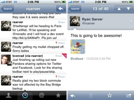 Llega Tweetie 2.1 en el iPhone con soporte para listas y retweet nativo