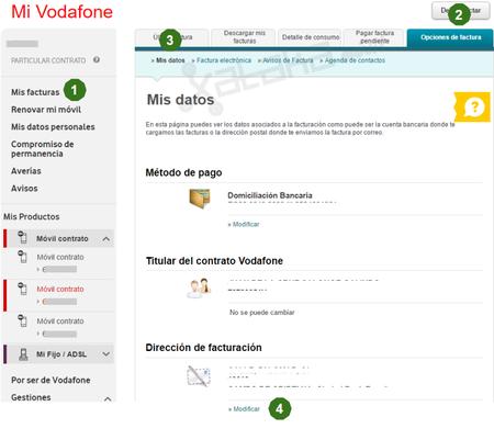 Cambiar Direccion De Facturacion Vodafone Desde Navegador