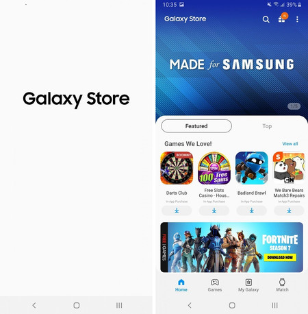 Galaxy Apps is now Galaxy Store, now you can download the renovated