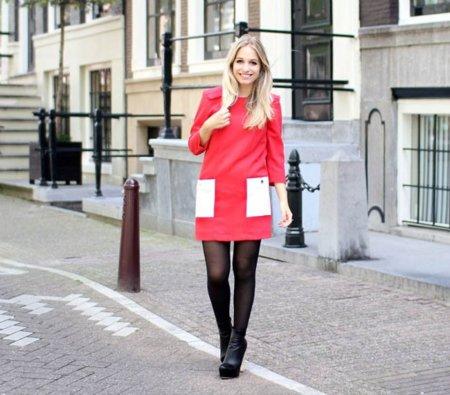 Yara vestido rojo color