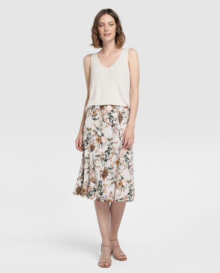 falda lady mujer flores