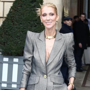 Céline Dion rescata las hombreras marcadas y las prendas de piel para conquistar Paris