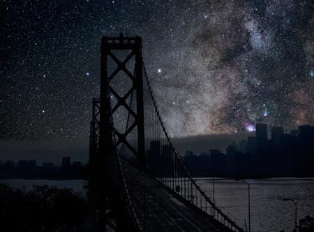 Ciudades a oscuras: Cómo sería la fotografía nocturna urbana sin contaminación lumínica