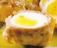 Ternera rellena con huevos duros