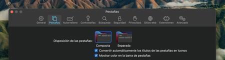Nuevo Safari Apple Preferencias