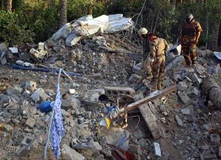 El refugio bombardeado de al-zarqawi