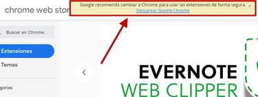 Google está empezando a mostrar 'avisos' a los usuarios de Microsoft Edge para intentar convencerlos de pasarse a Chrome