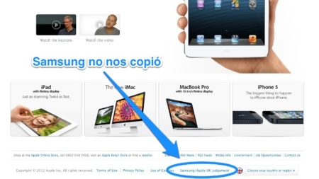 Apple publica en la web del Reino Unido una nota sobre su juicio frente a Samsung