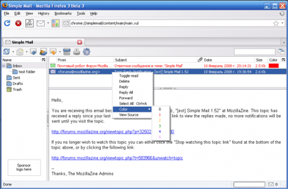 Simple mail, un cliente de correo en el navegador