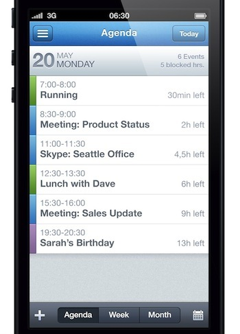 Hightrack Agenda (iPhone)