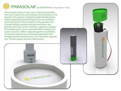 El Parasolar, un paraguas solar cargador de gadgets