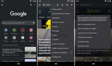 Chrome Tema Oscuro