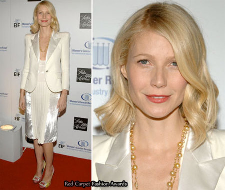 Gwyneth Paltrow se une a la moda del blanco para una gala