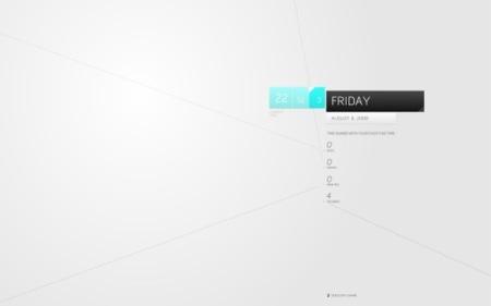 Due3: Salvapantallas con la fecha actual y el tiempo de inactividad del Mac