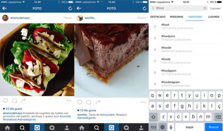 Hashtags de comida en Instagram