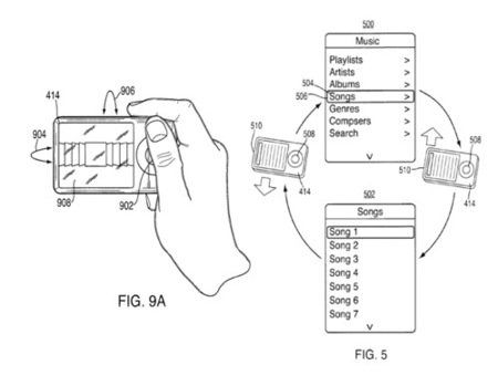 patente acelerometro controles apple