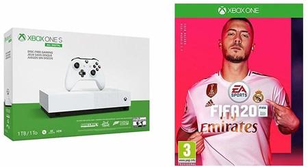 Oferta genial de lanzamiento: Xbox One S All Digital de 1TB con FIFA 20 y tres juegos más por 179,99 euros en Amazon