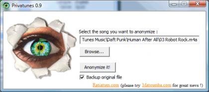 """PrivaTunes, para """"anonimizar"""" las canciones compradas en iTunes"""