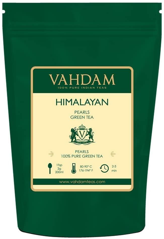 Hojas de té verde de las perlas del Himalaya Vahdam