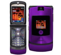 Motorola RAZR en color púrpura