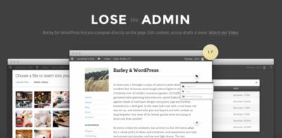 ¿Sueñas con un Wordpress sin panel de administración? Deja de soñar e instala Barley