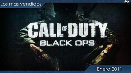Los juegos más vendidos en España. Enero 2011