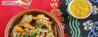 Tajine de ternera con zanahorias y Ras El Hanout. Receta