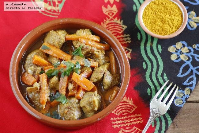 Tajine de ternera con zanahorias y Ras El Hanout
