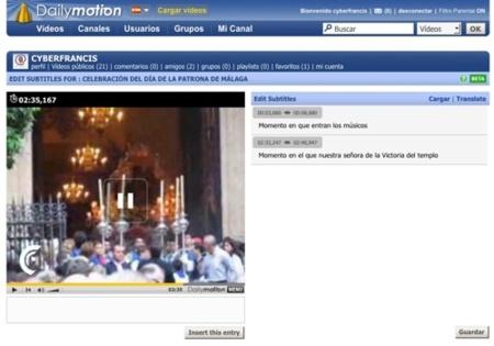 Dailymotion lanza una utilidad de subtitulación de vídeos