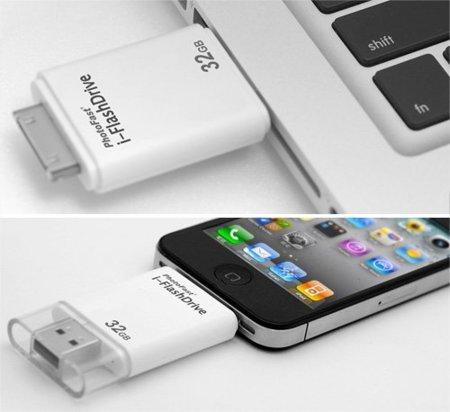 Aumenta el espacio del iPhone con i-Flashdrive, un pendrive multiusos