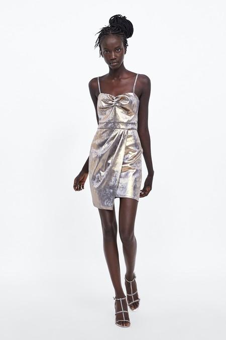 Zara Vestidos Fiesta Metalizados 02