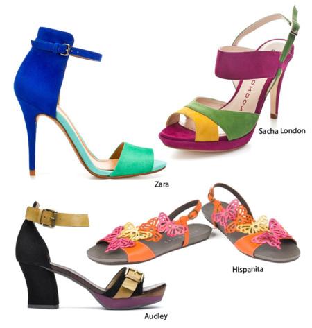 Sandalias color bloque