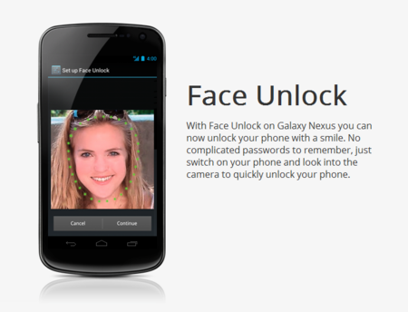 Face Unlock Android Ics